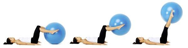 Занятие с фитнес мячем