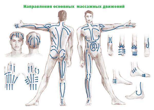 Основные массажные движения