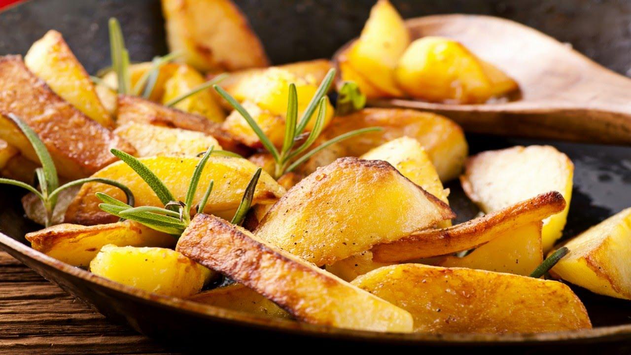 Картофель жареный с красной корочкой