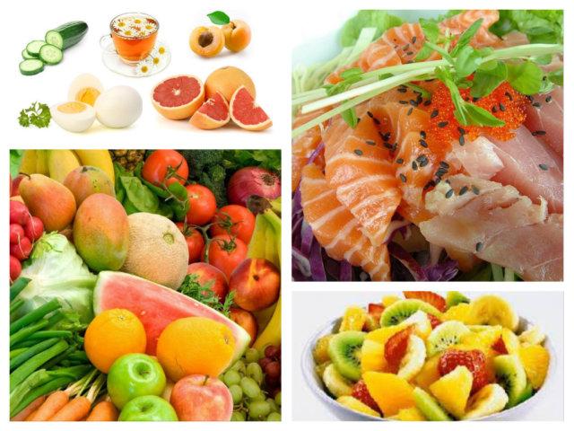 Основную часть рациона составляют белки: мясо, рыба, молочные продукты и т.д