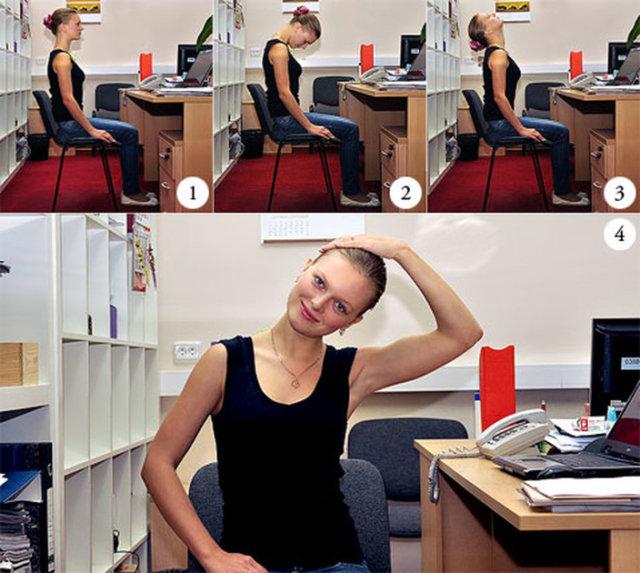 Аккуратно вращайте голову 2-3 раза сначала по часовой стрелке, затем в обратную сторону
